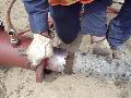 12inch thick wall, tank, vessel tap slug